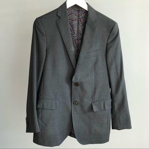 ETRO Men's Grey Wool Silk Lined Blazer Suit Jacket